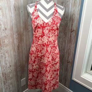 J. Crew sz 10 red/white halter dress sundress